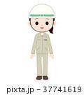 土木女子 建設業で働く作業着ヘルメットの女性 37741619