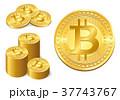 仮想通貨 ビットコイン コインのイラスト 37743767