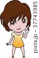 若い女性 37743985