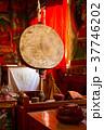 Big ritual drum in the tibetan monastery 37746202