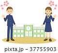 制服と校舎と桜 37755903