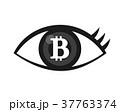 瞳にビットコインマーク 37763374