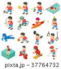Sport icons set, isometric style 37764732