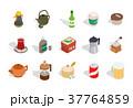 ドリンク類 飲み物 飲料のイラスト 37764859