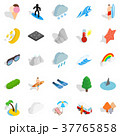 Water hangout icons set, isometric style 37765858
