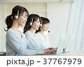 オペレーター ヘッドセット 女性の写真 37767979