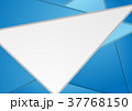 多角形の ベクター 青のイラスト 37768150