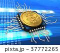 サイバー パソコン ビットコインのイラスト 37772265