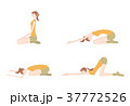 ヨガをする女性のイラスト 37772526