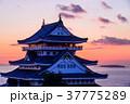 夜明けを迎える、熱海城 37775289