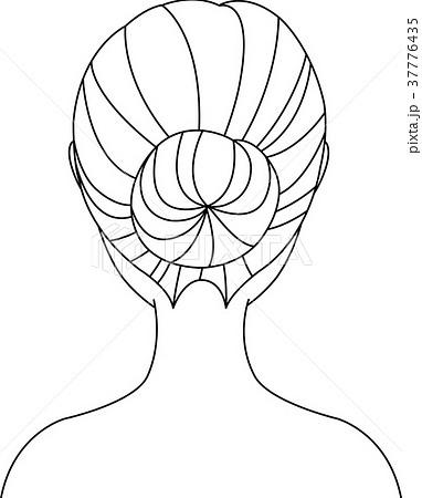 女性 うなじ イラストのイラスト素材 37776435 Pixta