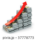 Growing bar graph from US dollar banknotes 37778773