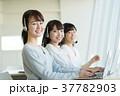 オペレーター ヘッドセット 女性の写真 37782903