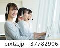 オペレーター ヘッドセット 女性の写真 37782906