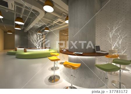 3D Illustration The Modern Office Interior Design