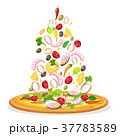 ピザ ピッツァ シーフードのイラスト 37783589