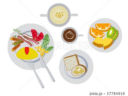 朝食のクリップアート。オムレツ。食べ物。 37784919