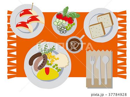 朝食のクリップアート。オムレツ。食べ物。 37784928