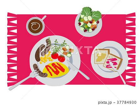朝食のクリップアート。オムレツ。食べ物。 37784930