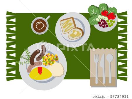 朝食のクリップアート。オムレツ。食べ物。 37784931