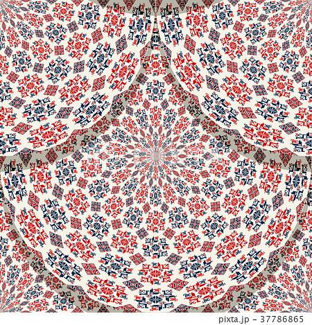 Seamless folk Romanian tile  37786865