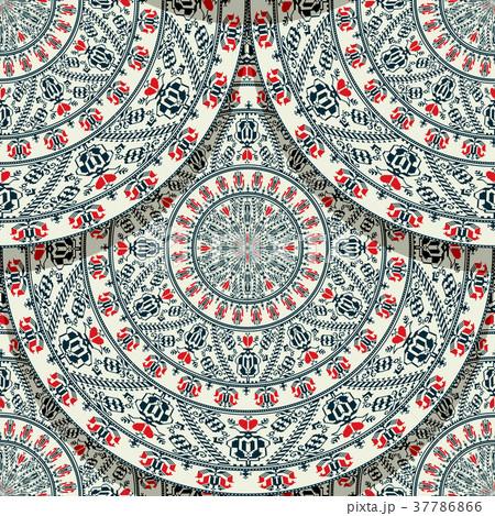 Seamless folk Romanian tile  37786866