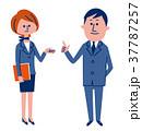 ビジネススーツの男女 37787257
