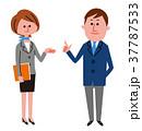 ビジネススーツ ビジネス 男女のイラスト 37787533
