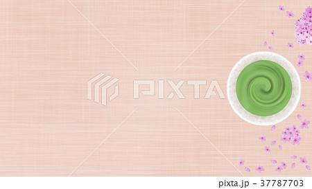 抹茶と桜のバックグラウンド 37787703
