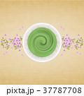 抹茶 桜 飲み物のイラスト 37787708