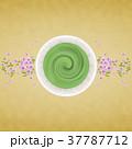 抹茶 桜 お茶のイラスト 37787712