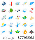 Frost icons set, isometric style 37793568