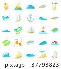 Algae icons set, cartoon style 37793823