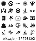 Water training icons set, simple style 37793892