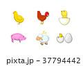 国内産 動物 アイコンのイラスト 37794442