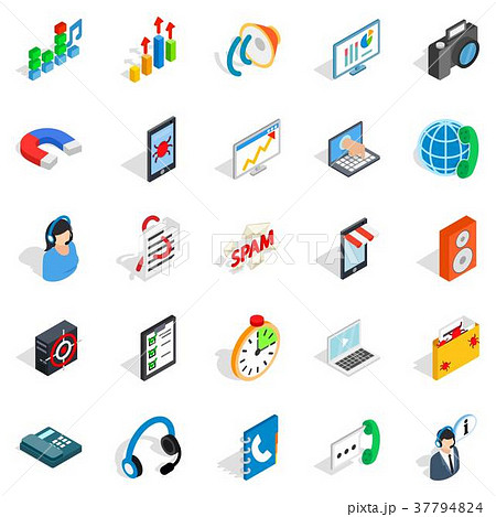 Project work icons set, isometric style 37794824