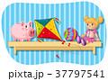 白背景 切り抜き おもちゃのイラスト 37797541