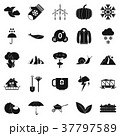 Overcast icons set, simple style 37797589
