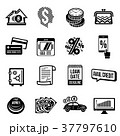 Loan credit icons set, simple style 37797610