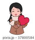 バレンタインデー バレンタイン 女性のイラスト 37800584
