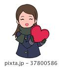 バレンタインデー バレンタイン 女性のイラスト 37800586
