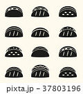 set of black tortilla tacos food icons set eps10 37803196