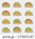 set of color tortilla tacos food stickers set  37803197