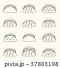 set of outline tortilla tacos food icons set eps10 37803198