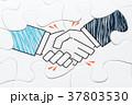 握手するイラストが描かれたジグソーパズル 37803530