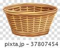 空いている 枝編み細工 バスケットのイラスト 37807454