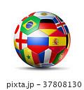 ロシア サッカー 球のイラスト 37808130