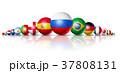 ロシア サッカー 球のイラスト 37808131