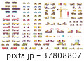 Vector isometric low poly transport set 37808807