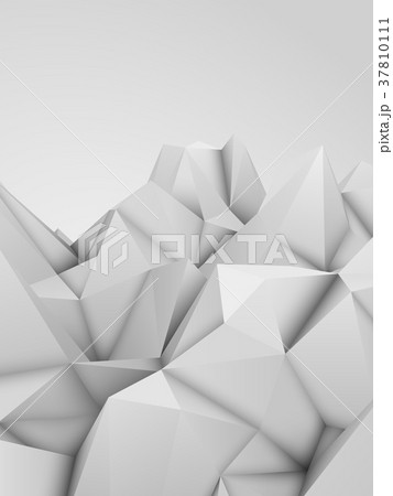 White Abstract Polygonal Background 37810111